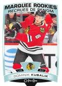 2019-20 O-Pee-Chee Update OPC Hockey #630 Dominik Kubalik RC Rookie Chicago Blackhawks  Official NHL Trading Card made by Upper Deck