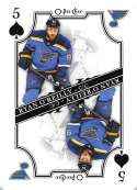 2019-20 O-Pee-Chee OPC Playing Cards #5-SPADES Ryan O'Reilly St. Louis Blues  Official NHL Hockey Trading Card (made by Upper Deck)