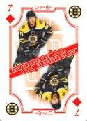 2019-20 O-Pee-Chee OPC Playing Cards #7-DIAMONDS David Pastrnak Boston Bruins  Official NHL Hockey Trading Card (made by Upper Deck)