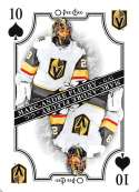 2019-20 O-Pee-Chee OPC Playing Cards #10-SPADES Marc-Andre Fleury Vegas Golden Knights  Official NHL Hockey Trading Card (made by Upper Deck)
