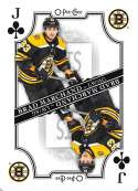 2019-20 O-Pee-Chee OPC Playing Cards #J-CLUBS Brad Marchand Boston Bruins  Official NHL Hockey Trading Card (made by Upper Deck)