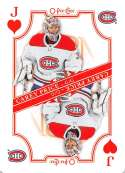 2019-20 O-Pee-Chee OPC Playing Cards #J-HEARTS Carey Price Montreal Canadiens  Official NHL Hockey Trading Card (made by Upper Deck)