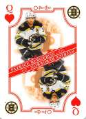 2019-20 O-Pee-Chee OPC Playing Cards #Q-HEARTS Patrice Bergeron Boston Bruins  Official NHL Hockey Trading Card (made by Upper Deck)