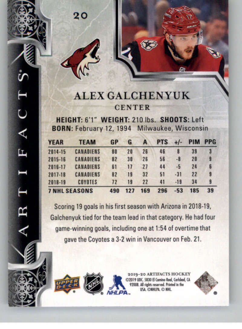 2019-20-Upper-Deck-Artifacts-Hockey-Base-Set-Cards-Choose-Card-039-s-1-100 thumbnail 41
