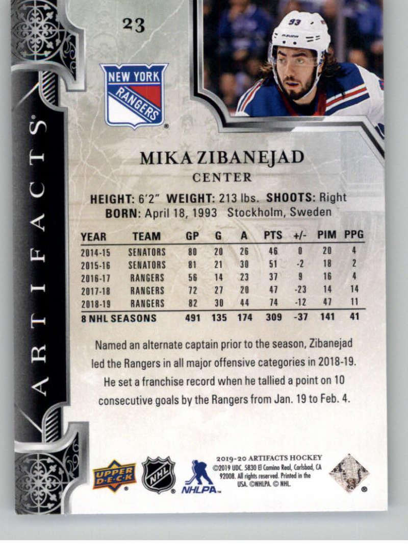 2019-20-Upper-Deck-Artifacts-Hockey-Base-Set-Cards-Choose-Card-039-s-1-100 thumbnail 47