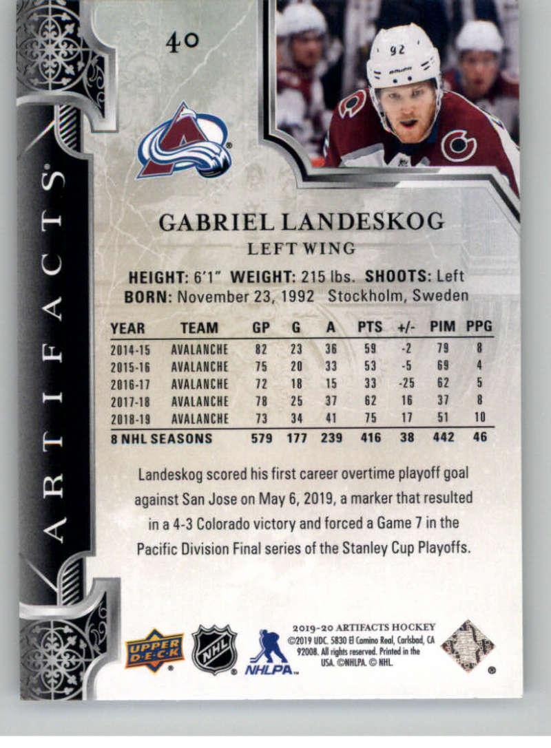 2019-20-Upper-Deck-Artifacts-Hockey-Base-Set-Cards-Choose-Card-039-s-1-100 thumbnail 81