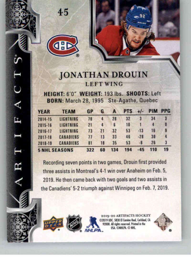 2019-20-Upper-Deck-Artifacts-Hockey-Base-Set-Cards-Choose-Card-039-s-1-100 thumbnail 89