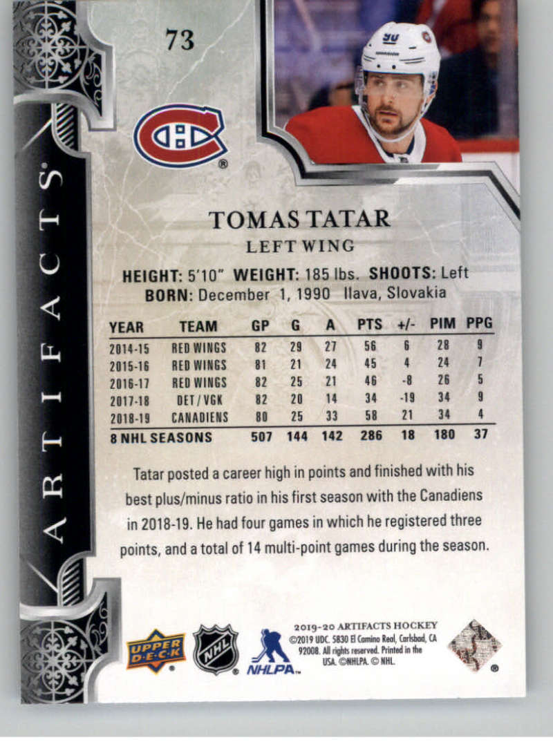 2019-20-Upper-Deck-Artifacts-Hockey-Base-Set-Cards-Choose-Card-039-s-1-100 thumbnail 145