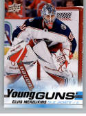 2019-20 Upper Deck Series 2 Hockey #466 Elvis Merzlikins RC Rookie Columbus Blue Jackets Young Guns  Official UD Trading Card