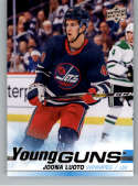 2019-20 Upper Deck Series 2 Hockey #487 Joona Luoto RC Rookie Winnipeg Jets Young Guns  Official UD Trading Card