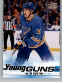 2019-20 Upper Deck Series 2 Hockey #494 Klim Kostin RC Rookie St. Louis Blues Young Guns  Official UD Trading Card