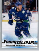 2019-20 Upper Deck Series 2 Hockey #495 Guillaume Brisebois RC Rookie Vancouver Canucks Young Guns  Official UD Trading Card