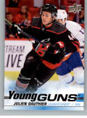 2019-20 Upper Deck Series 2 Hockey #498 Julien Gauthier RC Rookie Carolina Hurricanes Young Guns  Official UD Trading Card