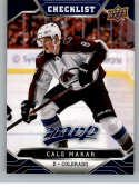 2019-20 UD MVP Hockey BLUE #250 Cale Makar Colorado Avalanche  RC Rookie Limited Edition Only Found in Factory Set Official Upper Deck NHL Trading Car