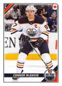 2019-20 Topps NHL Stickers Hockey #201 Connor McDavid Edmonton Oilers  Official 1.5 Inch Wide X 2.5 Inch Tall Album Sticker Trading Card