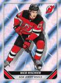 2019-20 Topps NHL Stickers Hockey #293 Nico Hischier New Jersey Devils Foil  Official 1.5 Inch Wide X 2.5 Inch Tall Album Sticker Trading Card