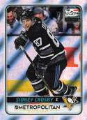 2019-20 Topps NHL Stickers Hockey #567 Sidney Crosby Pittsburgh Penguins Foil  Official 1.5 Inch Wide X 2.5 Inch Tall Album Sticker Trading Card
