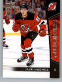 2019-20 Upper Deck NHL Rookie Box Set #1 Jack Hughes New Jersey Devils  Official UD Hockey Trading Card