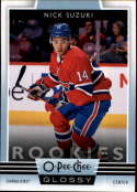 2019-20 O-Pee-Chee Hockey Glossy Rookies #R-13 Nick Suzuki Montreal Canadiens  RC Rookie Official OPC Trading Card Retail Exclusive in Upper Deck Reta