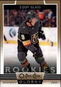 2019-20 Upper Deck OPC O-Pee-Chee Glossy Rookies Gold Parallel Hockey Series Two #R-15 Cody Glass Vegas Golden Knights O