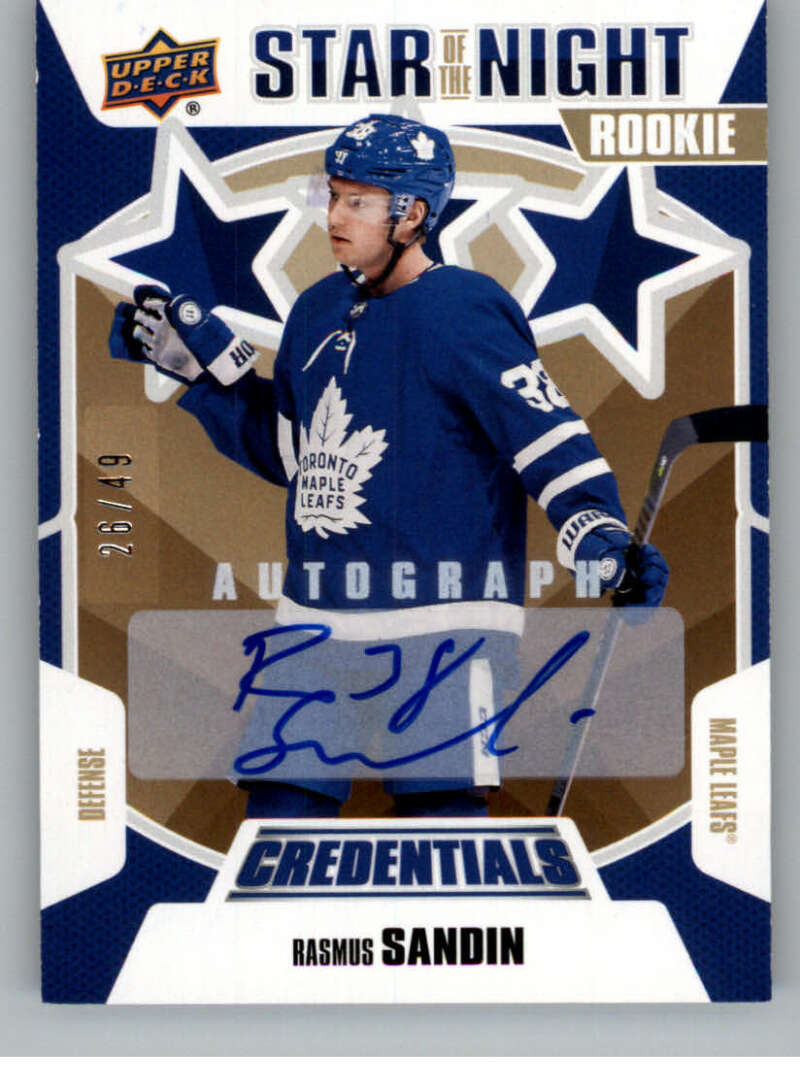 2019-20 Upper Deck Credentials Star of the Night Autographs