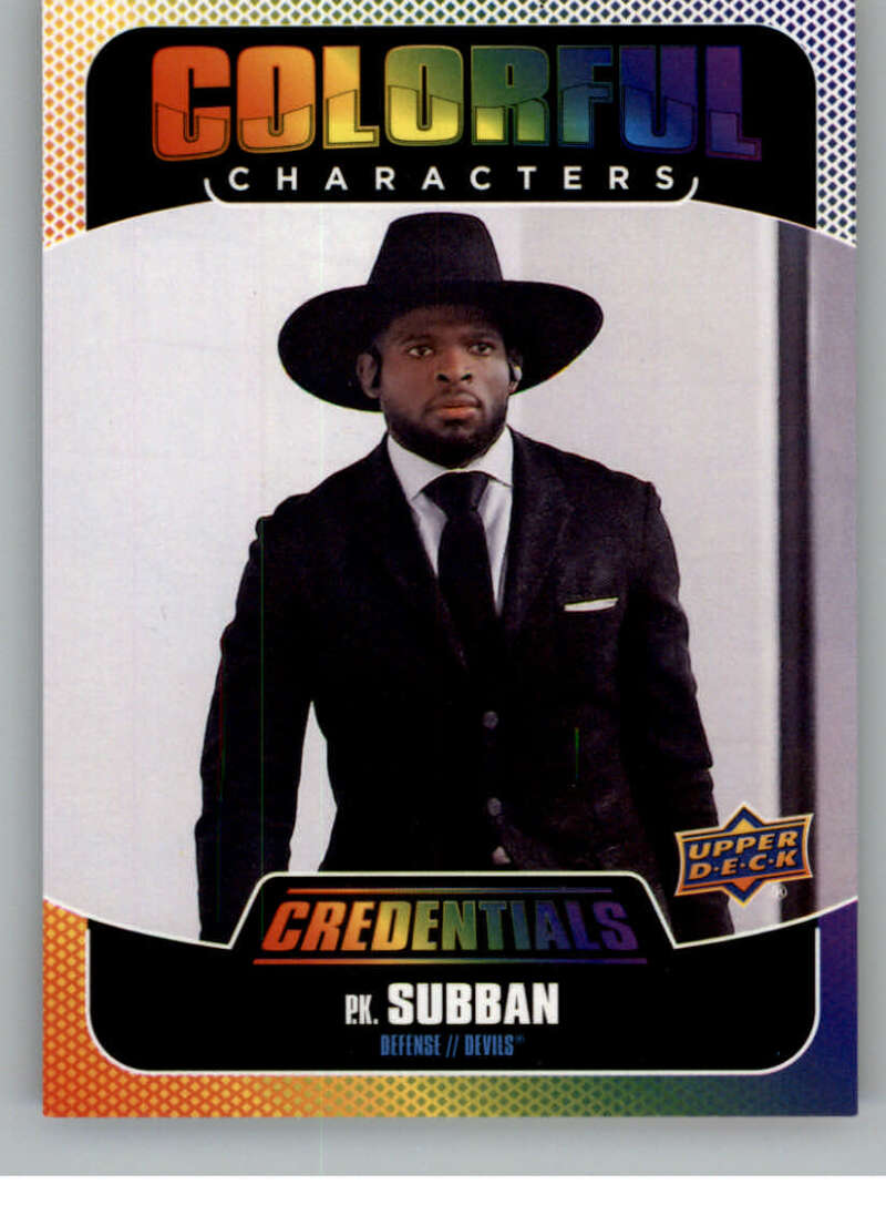 2019-20 Upper Deck Credentials Colorful Characters