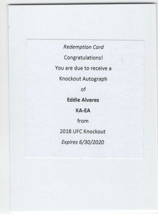2018 Topps Knockout Autographs