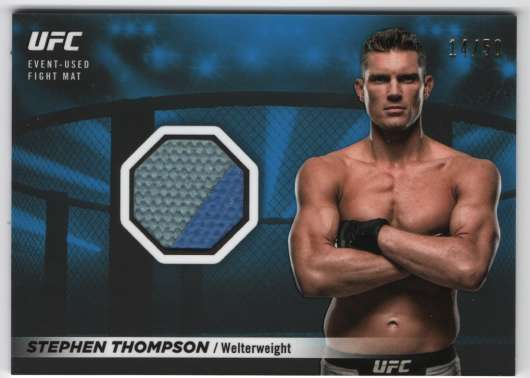 2018 Topps Knockout Fight Mat Relics Blue