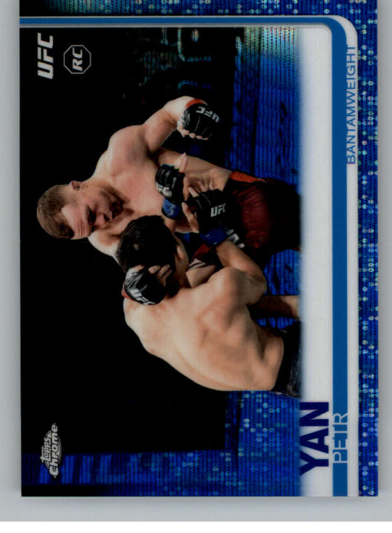 2019 Topps UFC Chrome Blue Wave Refractor