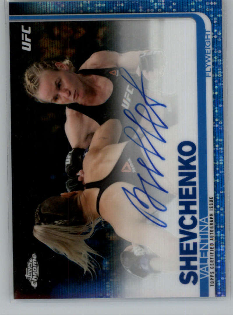 2019 Topps UFC Chrome Figther Autogphs Blue Wave Refractor
