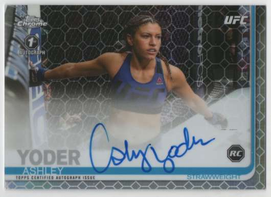 2019 Topps UFC Chrome Figther Autogphs Red Refractor