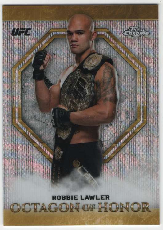 2019 Topps UFC Chrome Octagon of Honor Wave Refractor
