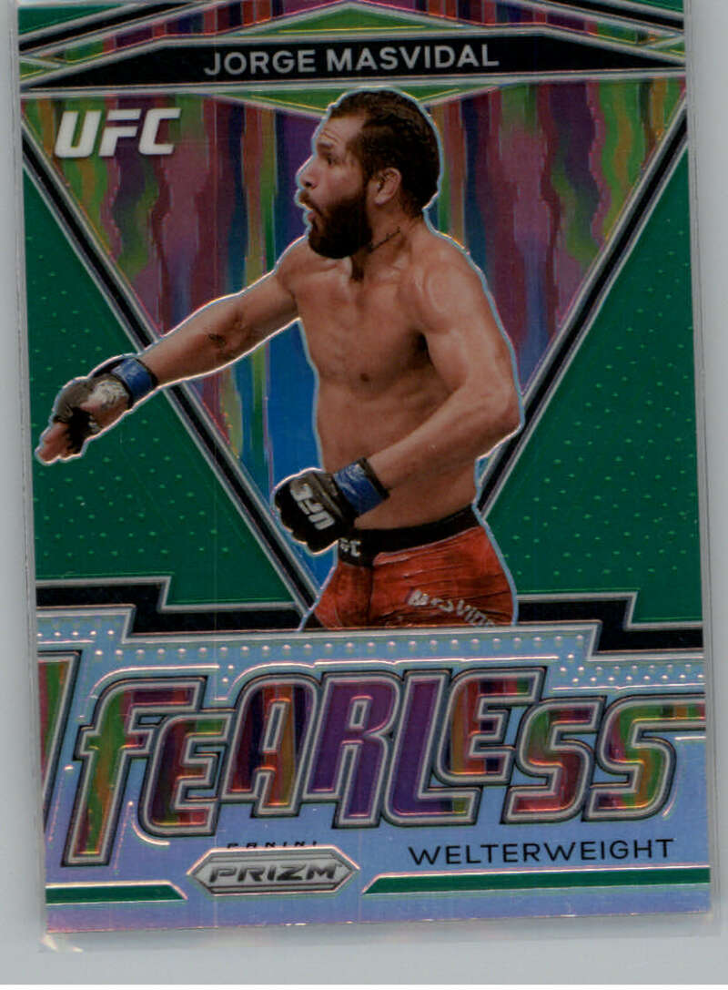 2021 Panini UFC Fearless Prizms Green