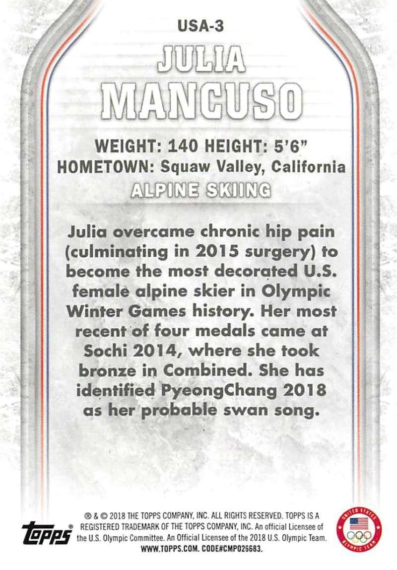2018-Topps-Winter-Olympics-Team-USA-Base-Cards-Choose-039-s-US-1-48-USA-1-45 thumbnail 101