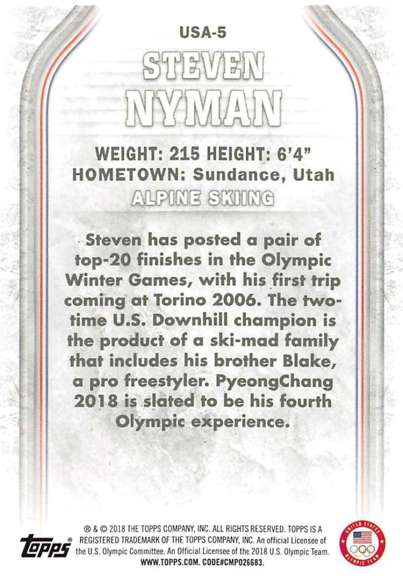 2018-Topps-Winter-Olympics-Team-USA-Base-Cards-Choose-039-s-US-1-48-USA-1-45 thumbnail 105