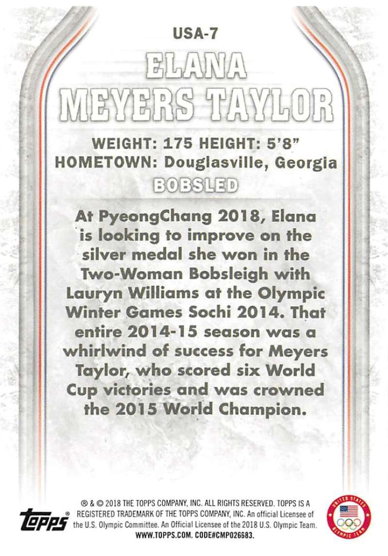 2018-Topps-Winter-Olympics-Team-USA-Base-Cards-Choose-039-s-US-1-48-USA-1-45 thumbnail 109