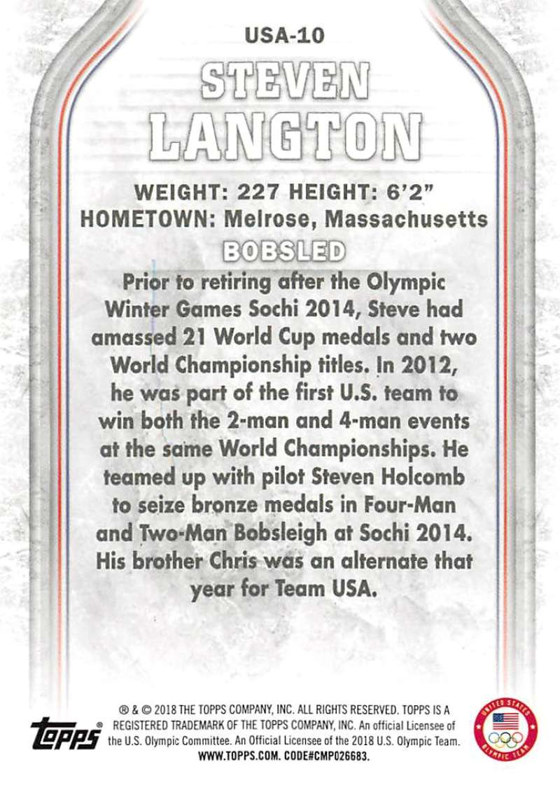 2018-Topps-Winter-Olympics-Team-USA-Base-Cards-Choose-039-s-US-1-48-USA-1-45 thumbnail 115