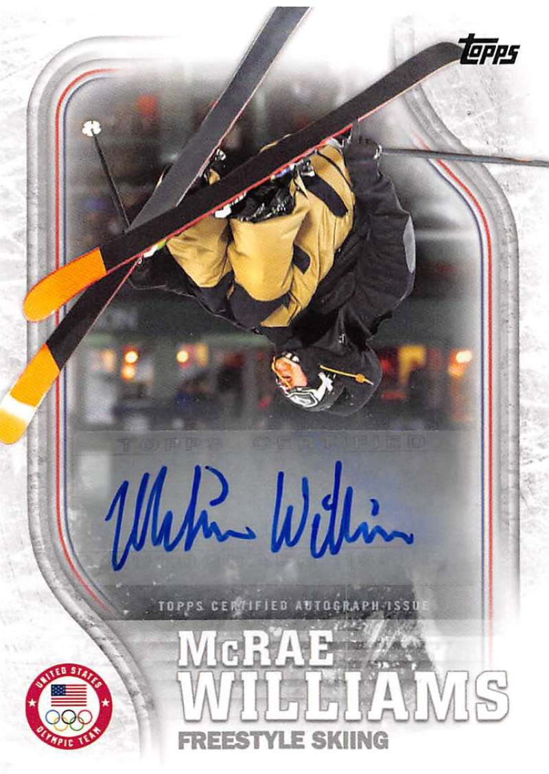 2018 Topps US Winter Olympics Autographs
