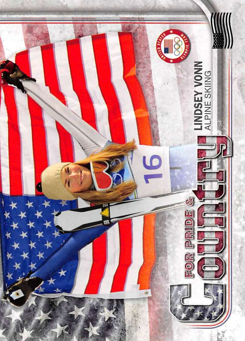 2018 Topps US Winter Olympics For Pride and Country US Flag