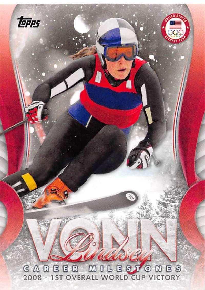 2018 Topps US Winter Olympics Lindsey Vonn Career Milestones