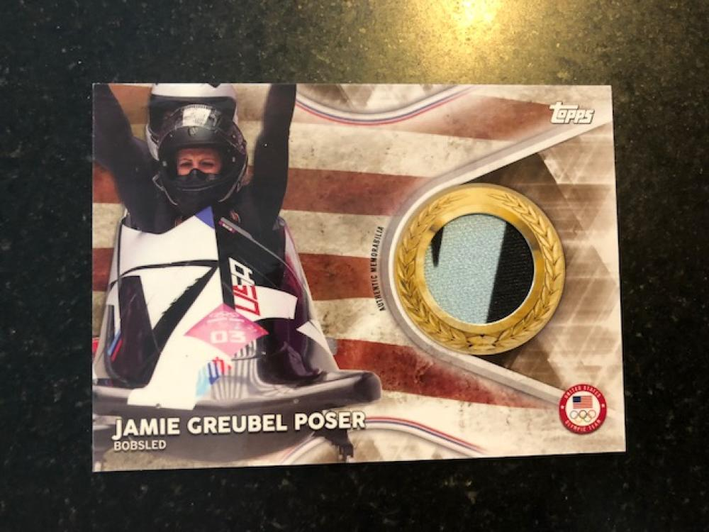 2018 Topps US Winter Olympics Team USA Memorabilia Pieces Gold