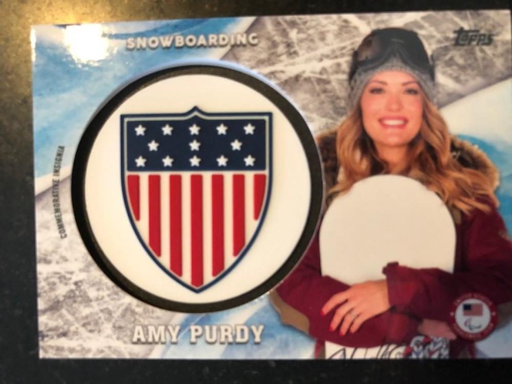 2018 Topps US Winter Olympics USOC Insignia Commemorative Relics