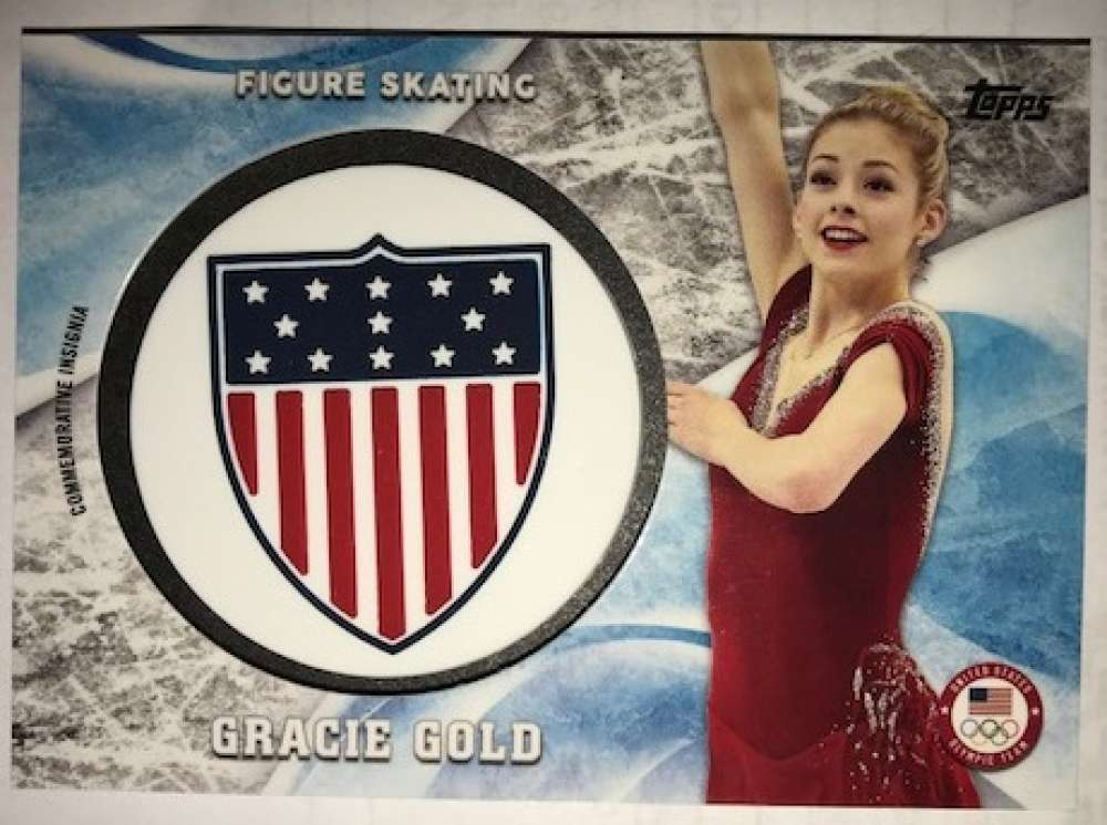 2018 Topps US Winter Olympics USOC Insignia Commemorative Relics Silver