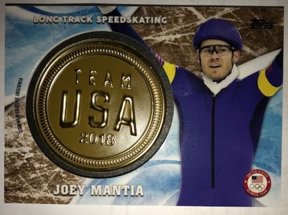 2018 Topps US Winter Olympics USOC Insignia Commemorative Relics Gold