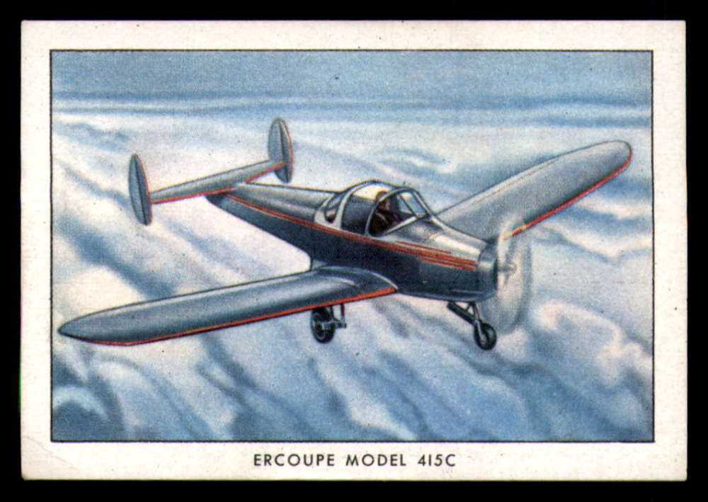 1941 Wings Cigarettes Modern Airplanes Series B T87b