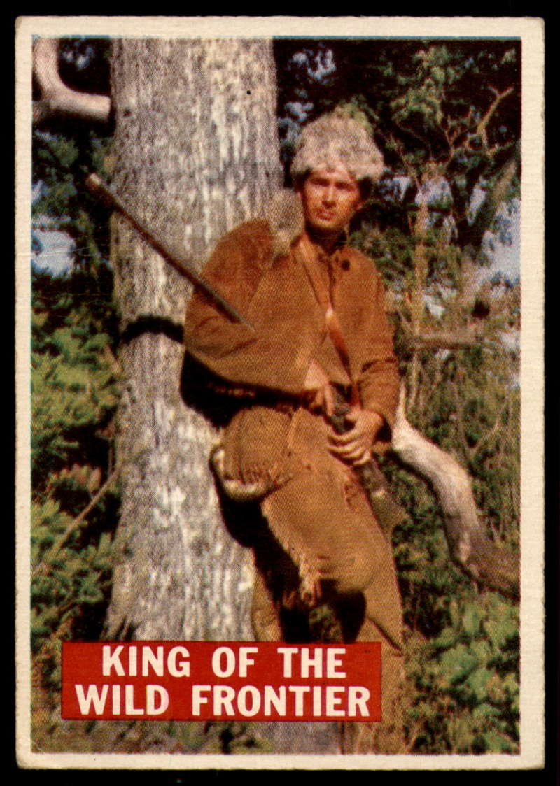 1956 Topps Davy Crockett Orange Back