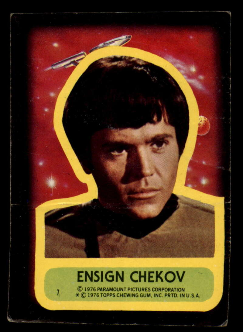 1976 Topps Star Trek Stickers