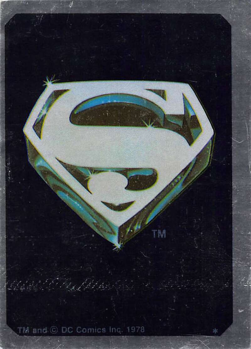 1978 Topps Superman Foil Stickers