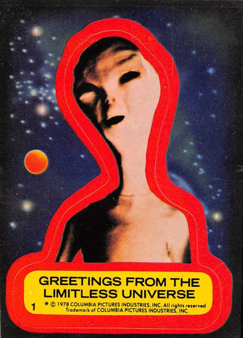 1978 Topps Close Encounters of the 3rd Kind Stickers