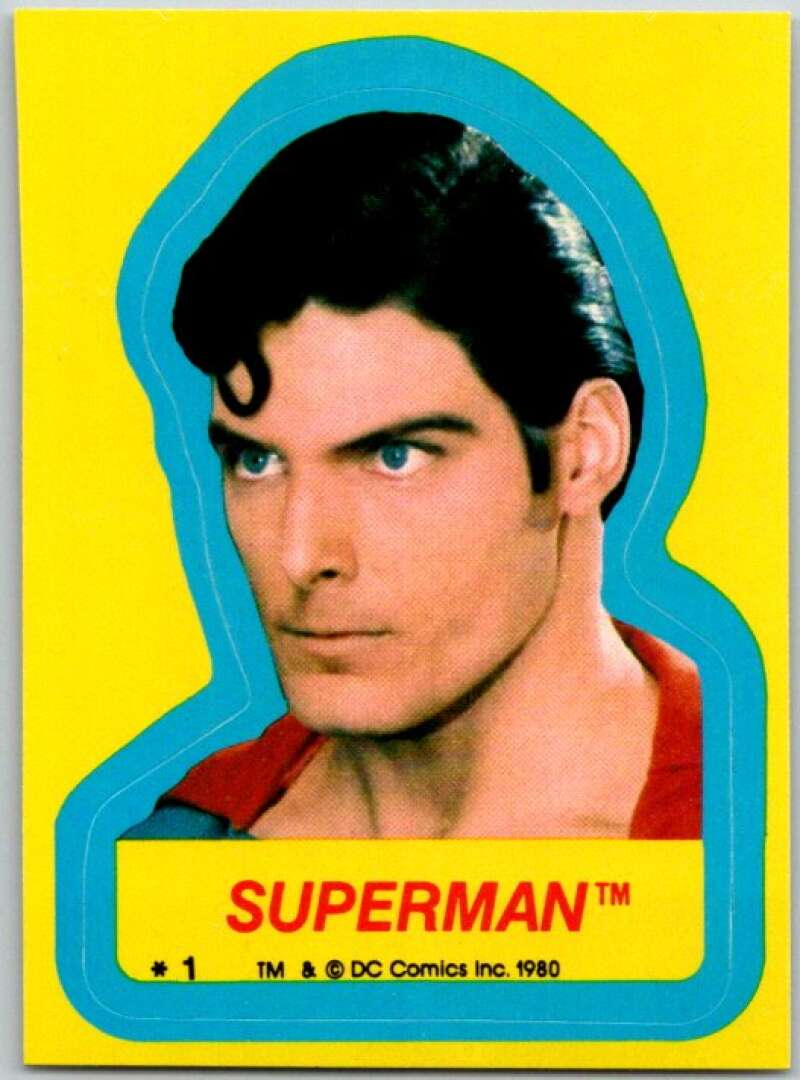 1980 Topps Superman II Stickers